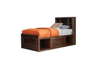 Image for Coffee Bean Greenough Transitional Maple Oak Twin Storage Bed