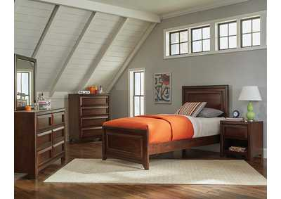 Greenough Maple Oak Full Storage Bed