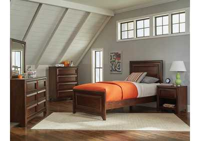 Maple Oak Twin Panel Bed