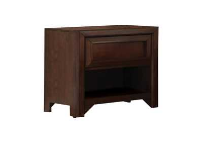 Image for Maple Oak Greenough Transitional Cappuccino Nightstand