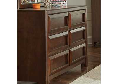 Greenough Cappuccino Six-Drawer Dresser