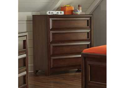 Greenough Cappuccino Four-Drawer Chest