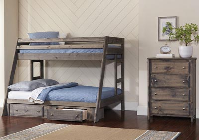 Wrangle Hill Gunsmoke Twin/Full Bunk Bed