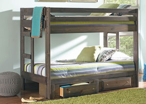 Wrangle Hill Gunsmoke Twin/Twin Bunk Bed