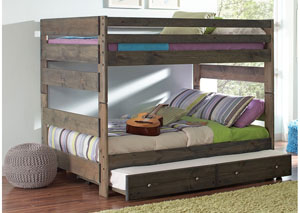 Full/Full Grey Bunk Bed (Storage Not Included)