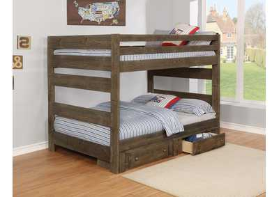 Wrangle Hill Gunsmoke Full/Full Bunk Bed