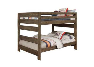 Image for Tobacco Brown Wrangle Hill Gun Smoke Full/Full Bunk Bed