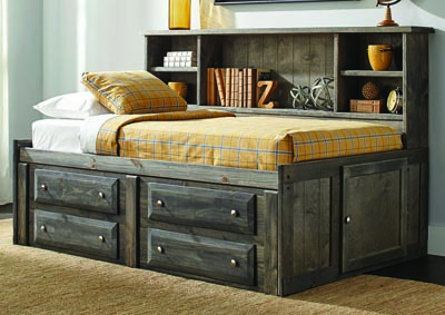 Rustic Gun Smoke 4-drawer Under-dresser