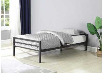Gray Metal Twin Bed