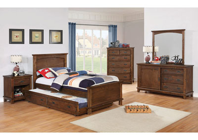 Kinsley Brown Full Bed w/Trundle