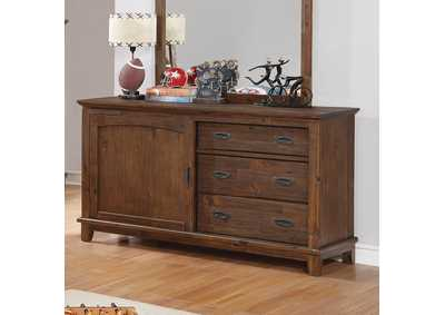 Country Brown Dresser