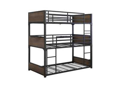 Elliott Black T / T / T Triple Bunk Bed