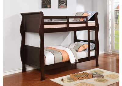 Benson Cappuccino Twin/Twin Bunk Bed