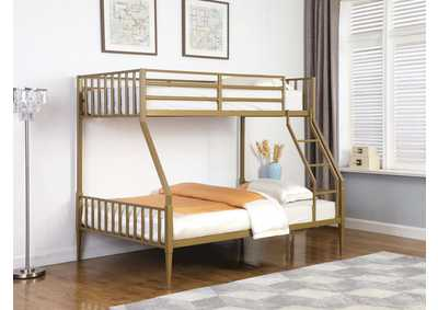Kidron Yellow Twin / Full Bunk Bed