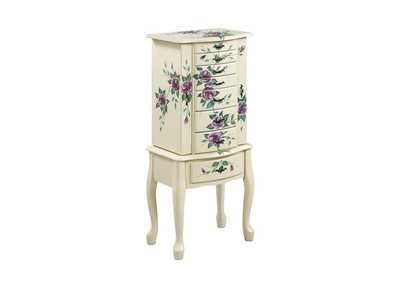 Accents Off-White Jewelry Armoire