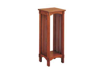 Image for Warm Brown Mission Traditional Oak Plant Stand