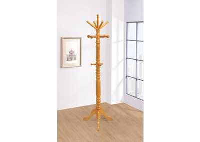 Honey Twisted Post Coat Rack