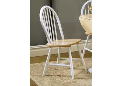 Two-Tone Natural Wood Dining Chair (Set of 4)