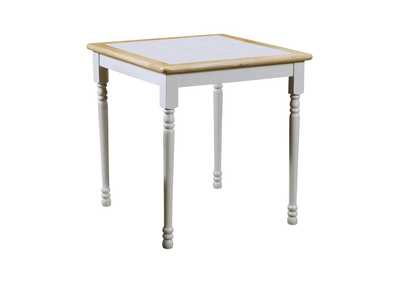 Image for Mischka Country Natural Brown Dining Table W/ White Tile Top
