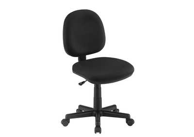 Image for Black Casual Black Office Chair W/ Wheels