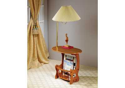 Warm Brown Accent Table
