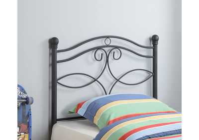 Black Metal Twin Headboard