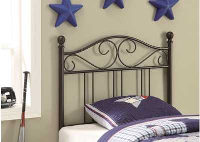 Brown Metal Twin Headboard