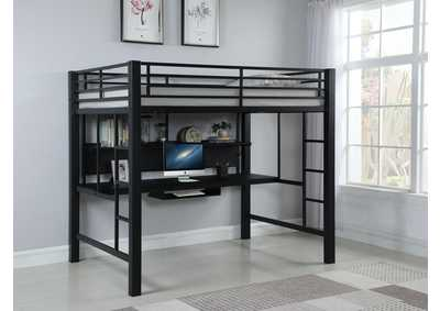 Black Metal Loft Bed