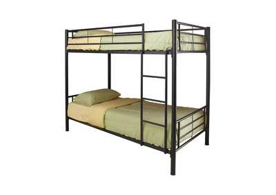 Tana Denley Black Metal Twin-Over-Twin Bunk Bed