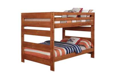 Cumin Wrangle Hill Amber Wash Full-over-Full Bunk Bed