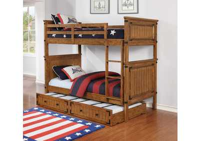 Image for Coronado Rustic Honey Twin-over-Twin Bunk Bed W/ Underbed Storage Trundle
