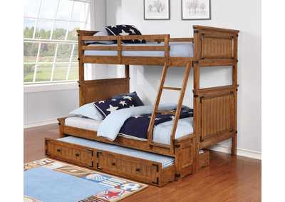 Image for Coronado Rustic Honey Twin-over-Full Bunk Bed W/ Underbed Storage Trundle