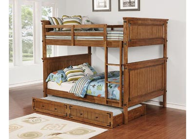 Image for Coronado Rustic Honey Full-over-Full Bunk Bed W/ Underbed Storage Trundle