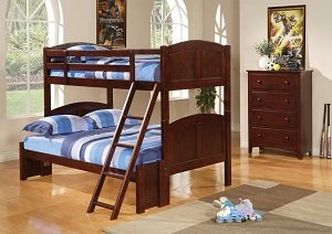 Image for Parker Chestnut Panel Twin-over-Full Bunk Bed
