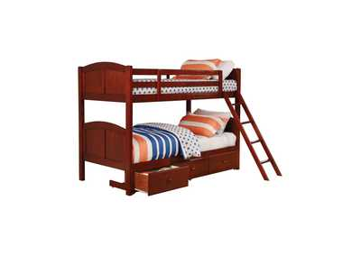 Image for Parker Chestnut Panel Twin-over-Twin Bunk Bed