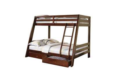 Image for Brown Derby Hawkins Cappuccino Twin over Full Bunk Bed