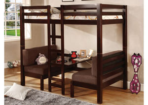 Twin/Twin Bunkbed (Convertible Table w/Seating)