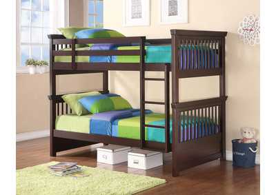 Miles Cappuccino Twin/Twin Bunk Bed