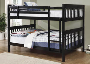 Chapman Black Full Bunk Bed