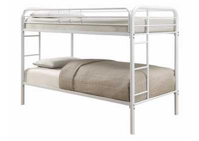 Image for Gallery Morgan White Twin Bunk Bed