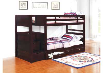 Elliott Cappuccino Twin/Twin Bunk Bed