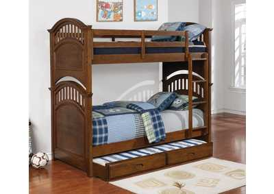 Halsted Walnut Twin/Twin Bunk Bed