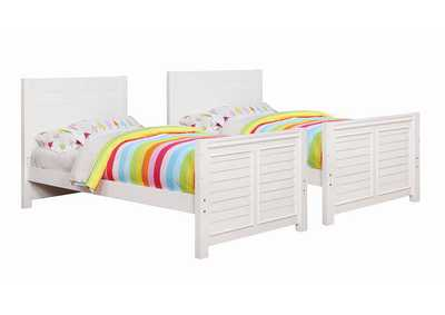 Edith Cottage White Twin/Full Bunk Bed