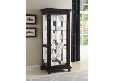 Brown Curio Cabinet,Coaster Furniture