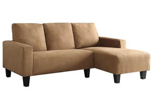 Brown & Black Sofa Chaise