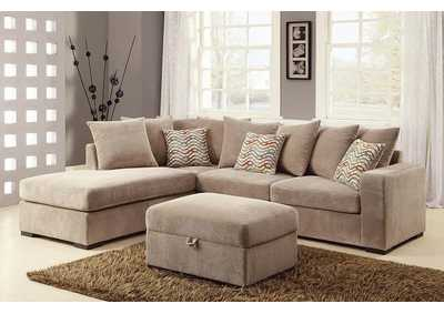Olson Taupe Reversible Sectional w/Chaise