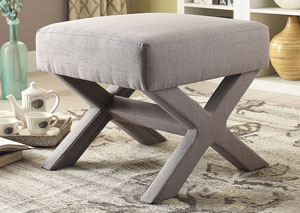Image for Almond Frost Country Grey Ottoman