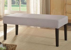 Grey Upholstered Bench