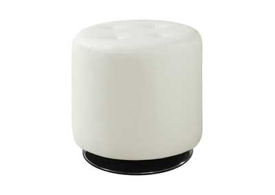 Image for Kangaroo Contemporary White Round Ottoman