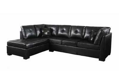 Image for Eerie Black Darie Contemporary Black Sectional